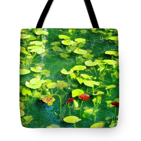 Tote Bag featuring the photograph Lily Pads by Melissa Stoudt