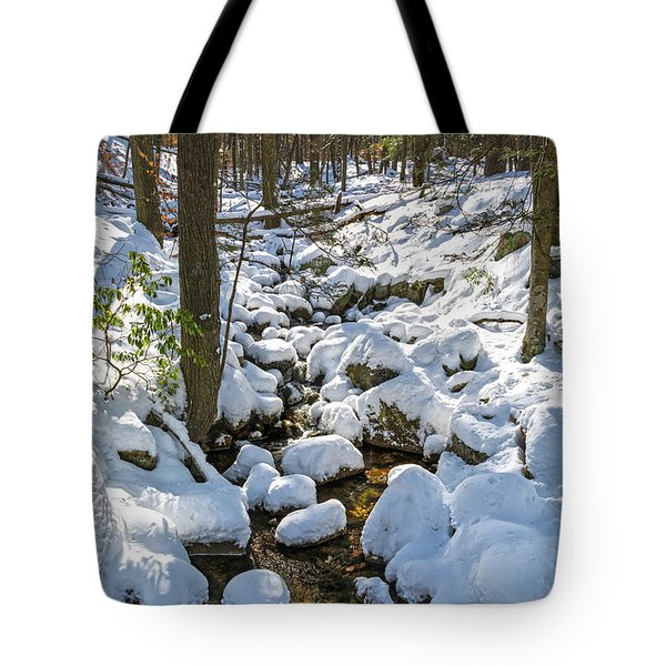 Lily Pads Of Snow Tote Bag