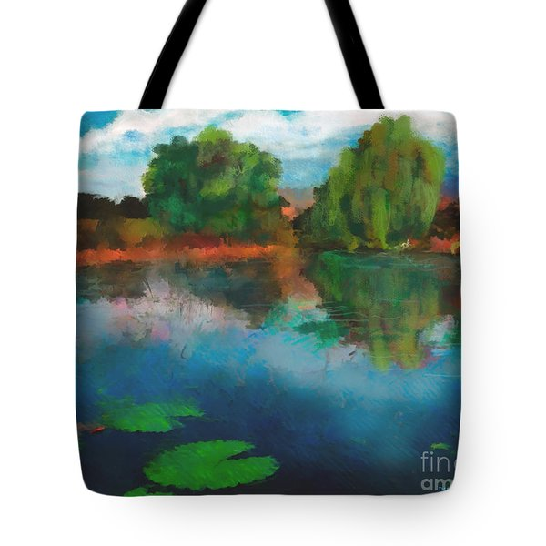 Lily Pond A La Torrie Tote Bag