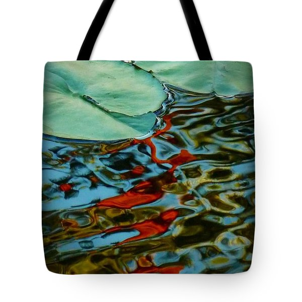 Lily Pond Abstract Tote Bag
