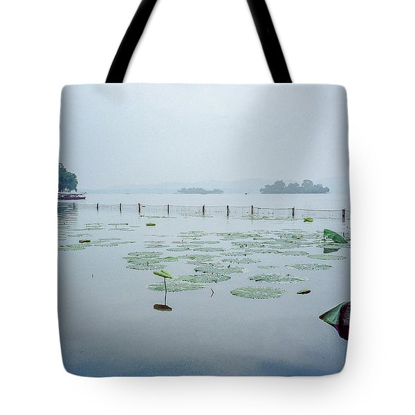 Lily Pond In Beijing China Tote Bag