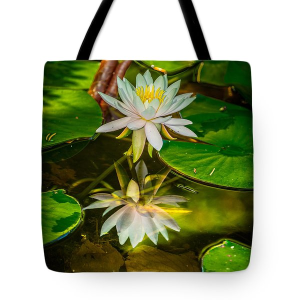 Lily Reflection Tote Bag by Jerry Cahill