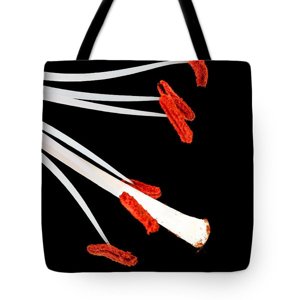 Tote Bag featuring the photograph Lily Study In Red And White By Flower Photographer David Perry Lawrence by David Perry Lawrence