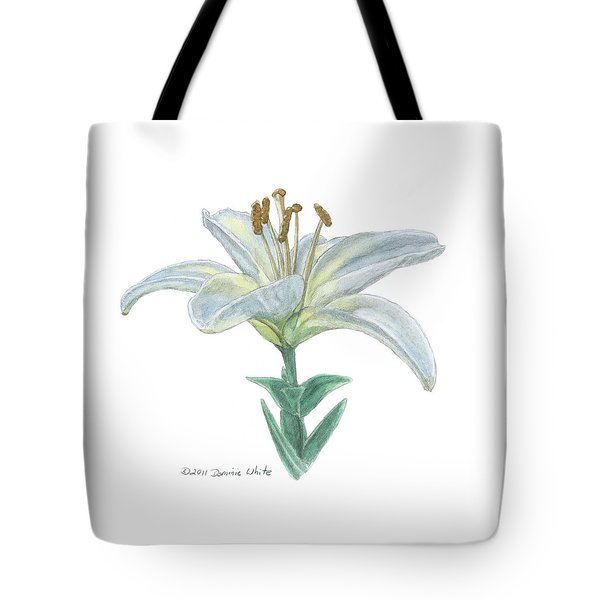 Lily Watercolor Tote Bag