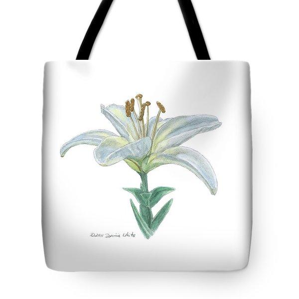 Lily Watercolor Tote Bag