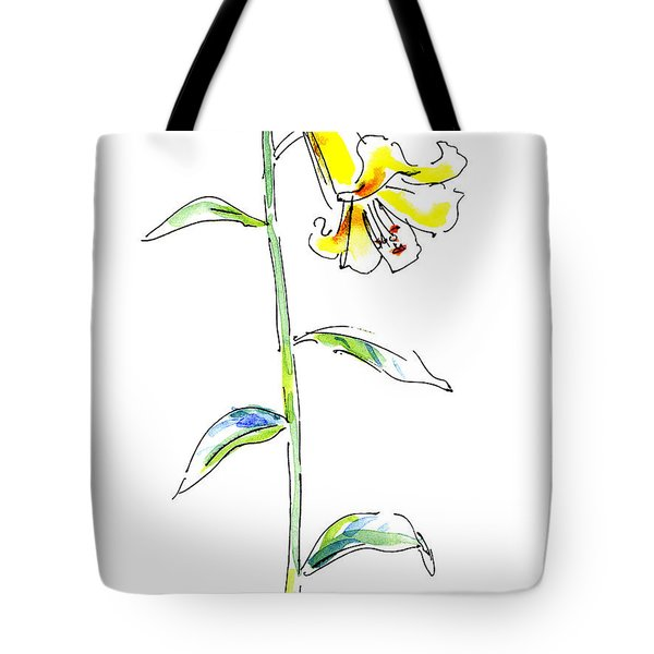 Lily Watercolor Painting 2 Tote Bag