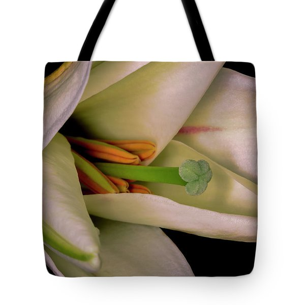 Tote Bag featuring the photograph Lily White by Roy McPeak