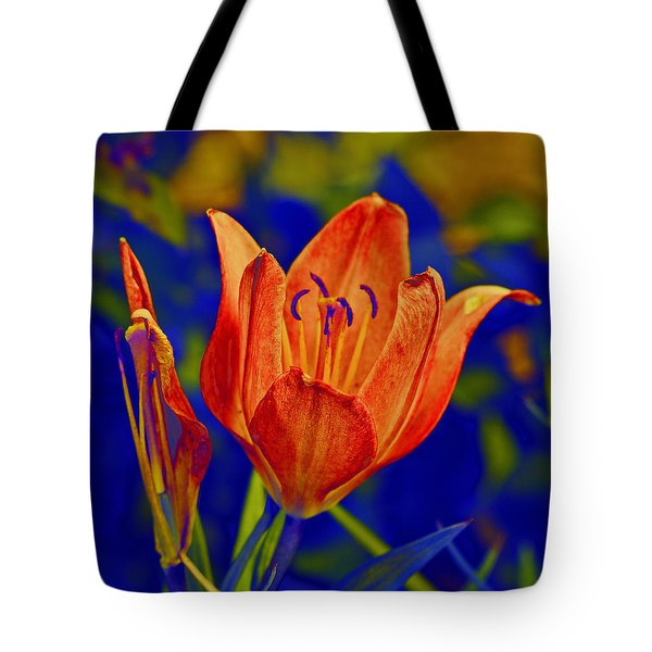 Tote Bag featuring the photograph Lily With Sabattier by Bill Barber