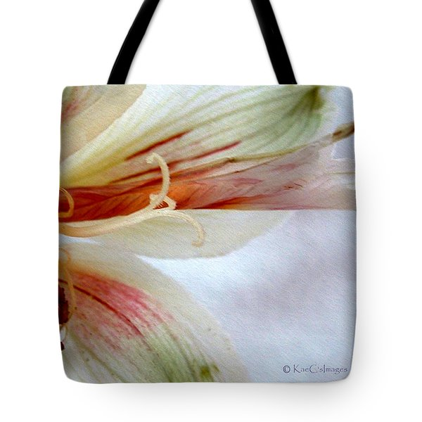 Tote Bag featuring the digital art Lily With Texture by Kae Cheatham