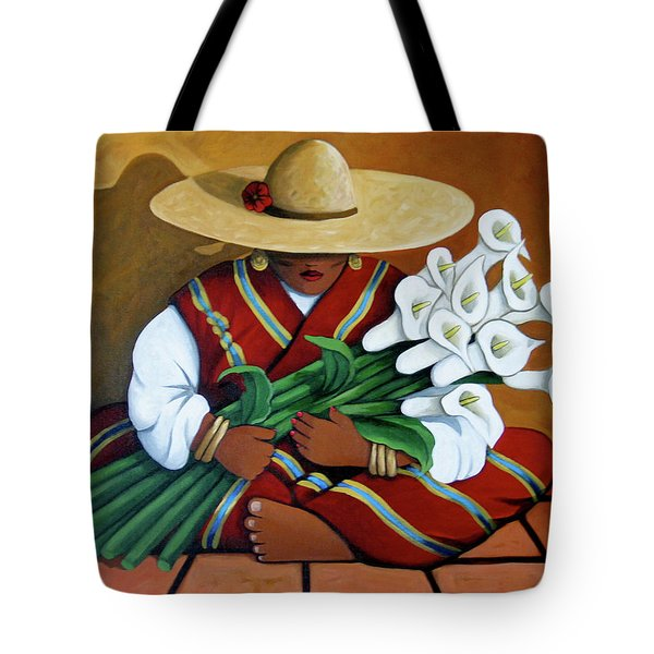 Lily Woman Tote Bag