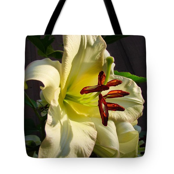 Lily's Morning Tote Bag