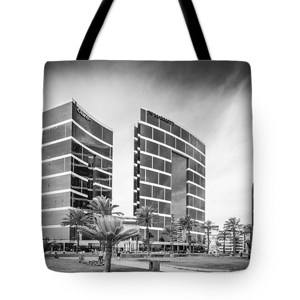 Tote Bag featuring the photograph Lima Buildings by Gary Gillette