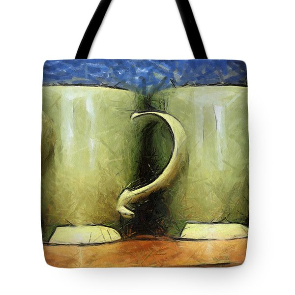 Lime Green Cups Tote Bag by Paulette B Wright