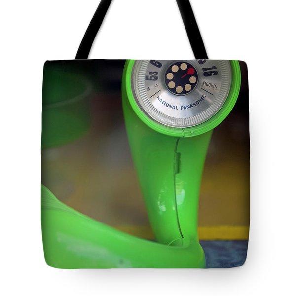 Lime Green Twisted Radio Tote Bag