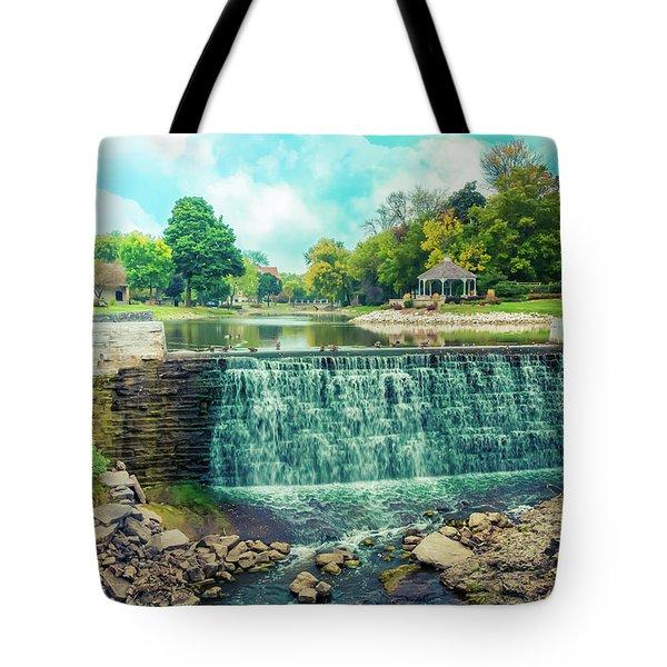 Lime Kiln Park Waterfall Tote Bag