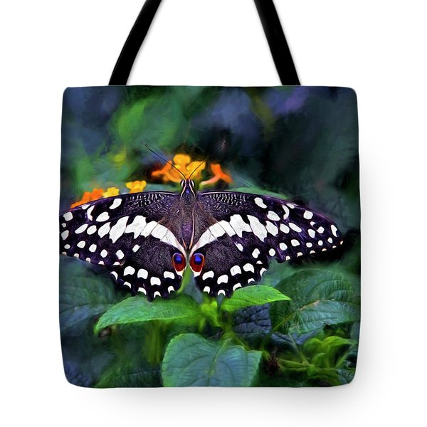 Lime Swallow Tail Tote Bag by James Steele