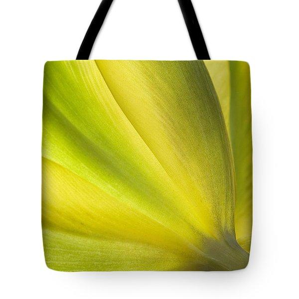 Lime Tulip Tote Bag