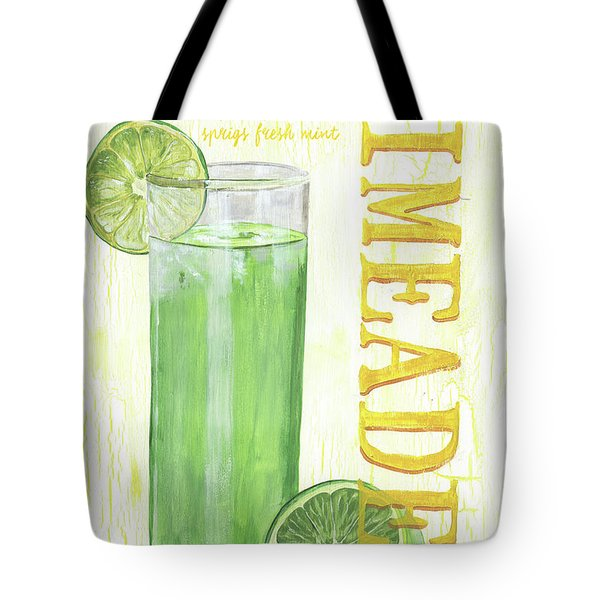 Tote Bag featuring the painting Limeade by Debbie DeWitt