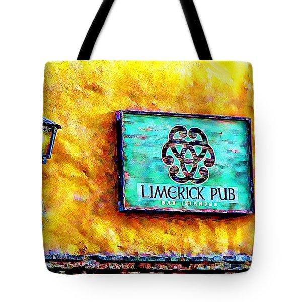 Limerick Pub Tote Bag