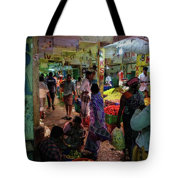 Tote Bag featuring the photograph Limes For Sale by Mike Reid