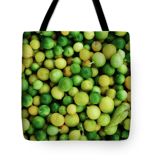 Limes Tote Bag by Happy Home Artistry