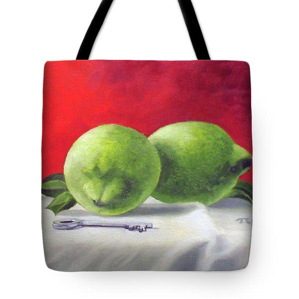 Limes Tote Bag by Tim Johnson