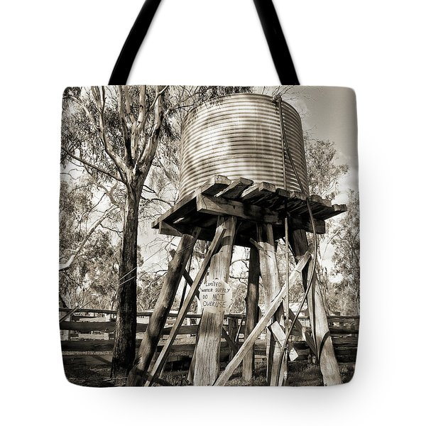 Tote Bag featuring the photograph Limited Water Supply by Linda Lees