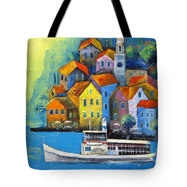 Tote Bag featuring the painting Limone by Mikhail Zarovny