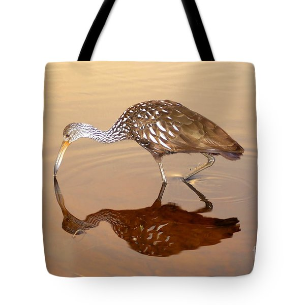 Limpkin In The Mirror Tote Bag by David Lee Thompson