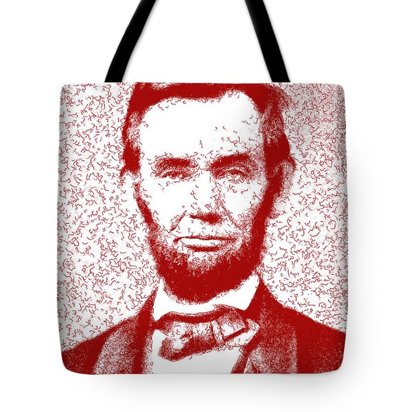 Lincoln Abstract Red Tote Bag
