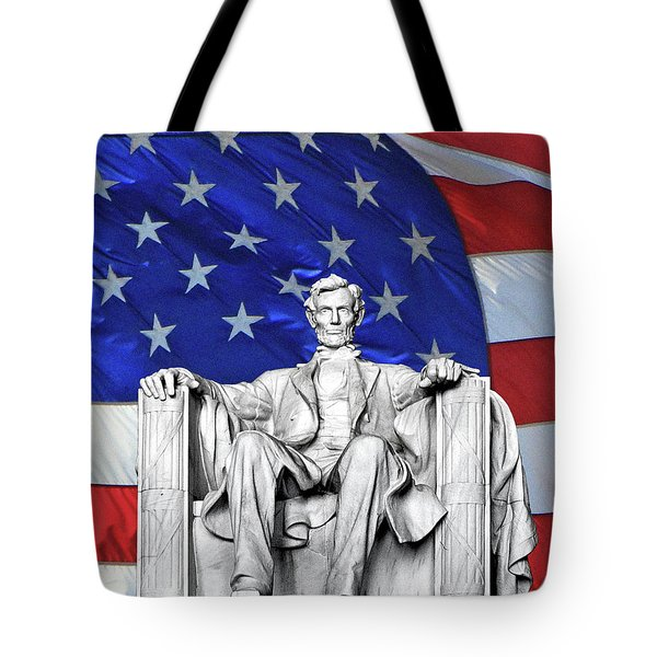 Tote Bag featuring the photograph Lincoln America by Christopher McKenzie