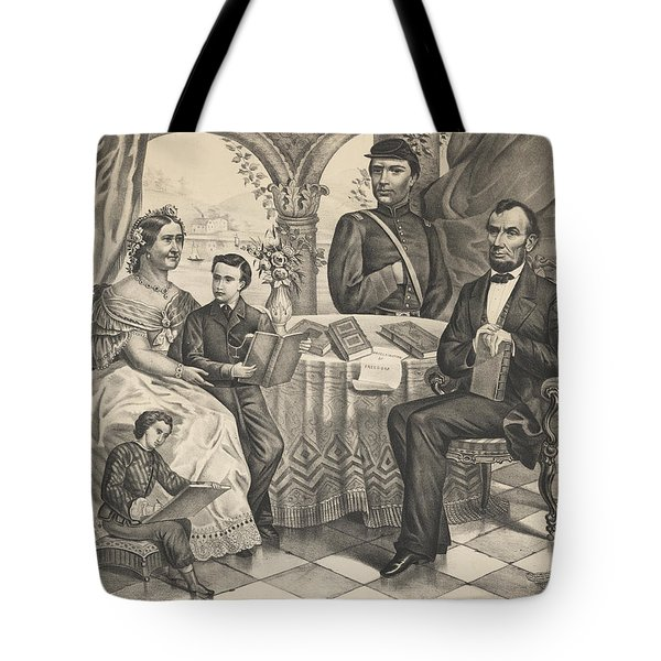 Lincoln And His Family Tote Bag