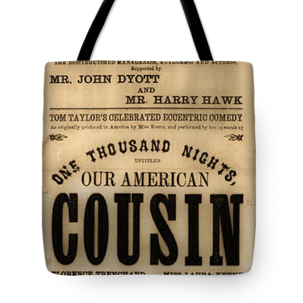 Lincoln Assassination Tote Bag by Andrew Fare