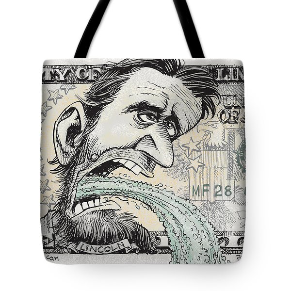 Lincoln Barfs Tote Bag