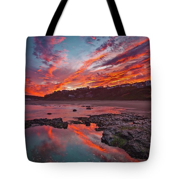 Lincoln City Sunrise Tote Bag