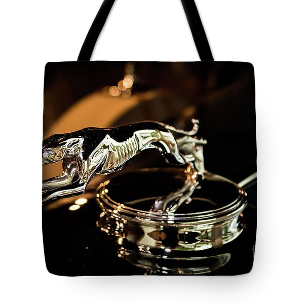 Lincoln Greyhound Hood Ornament Tote Bag