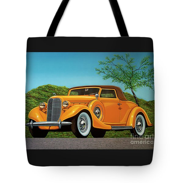 Lincoln K Convertible 1935 Painting Tote Bag