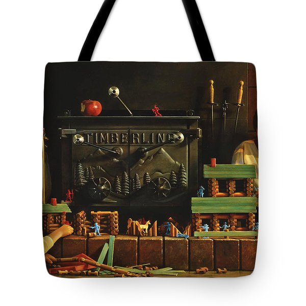 Lincoln Logs Tote Bag by Greg Olsen