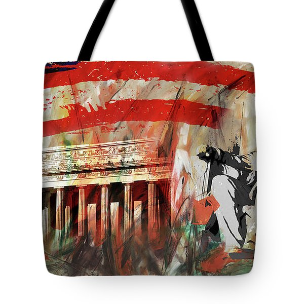 Lincoln Memorial And Lincoln Statue Tote Bag by Gull G