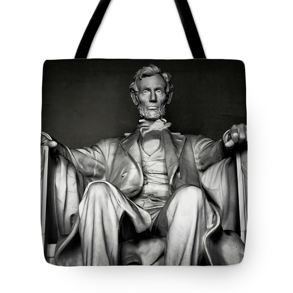 Lincoln Memorial Tote Bag by Daniel Hagerman