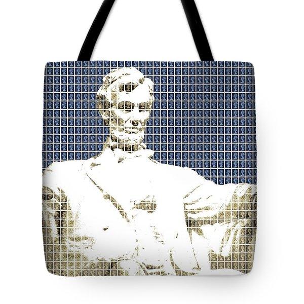 Lincoln Memorial - Dark Blue Tote Bag