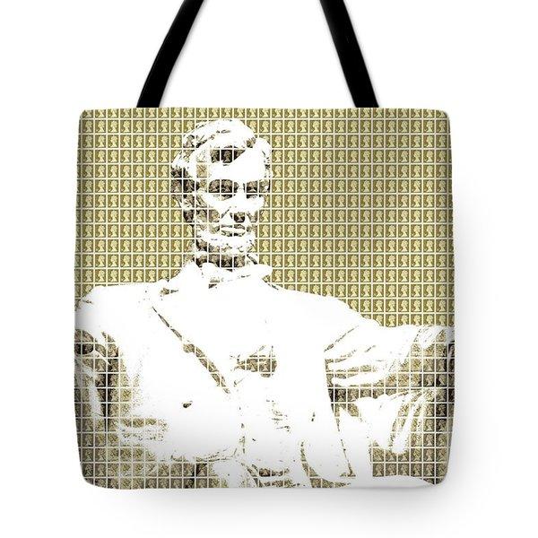 Lincoln Memorial - Gold Tote Bag