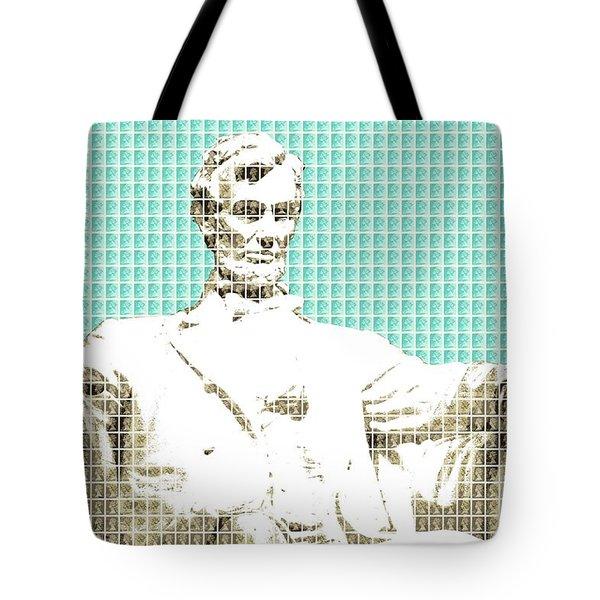 Lincoln Memorial - Light Blue Tote Bag