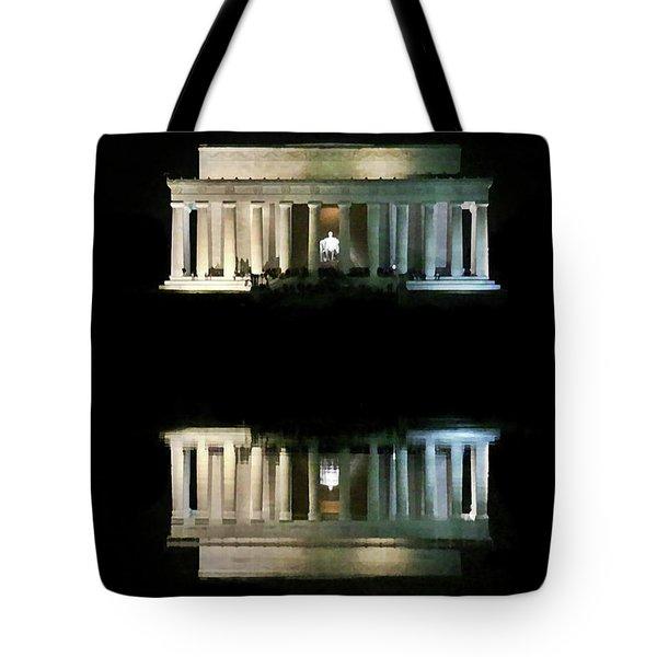 Lincoln Memorial Tote Bag by Lorella Schoales