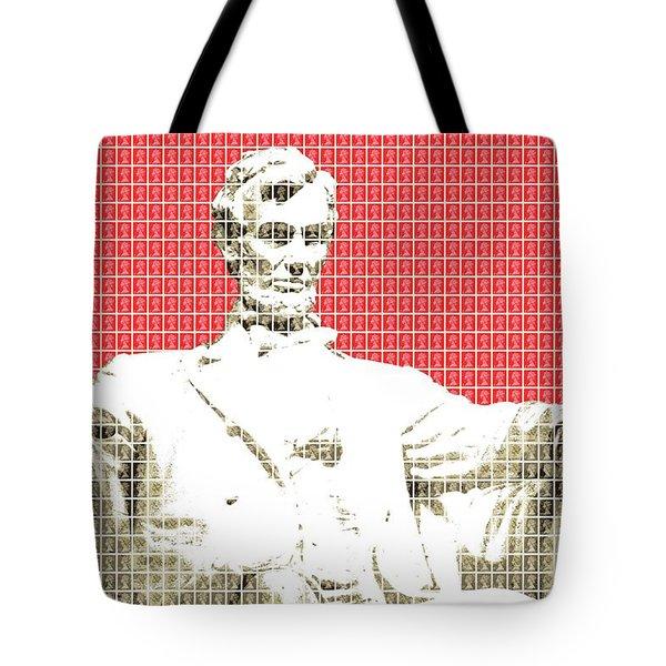 Lincoln Memorial - Red Tote Bag
