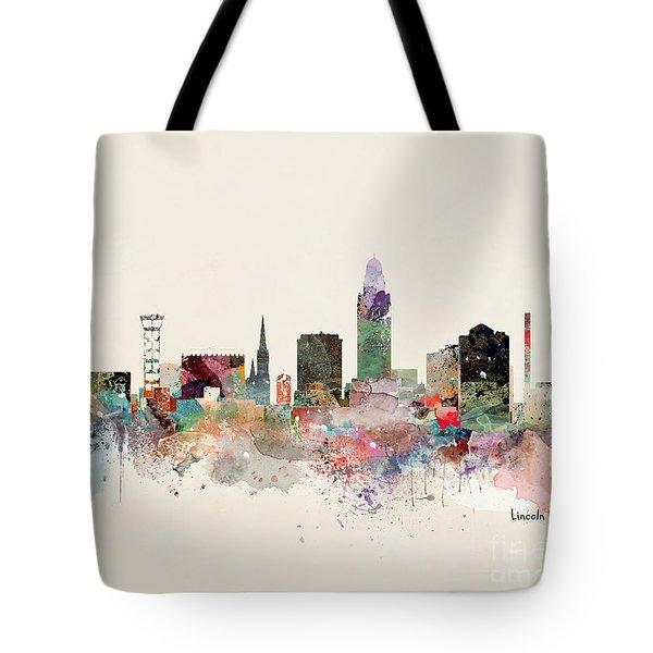 Lincoln Nebraska Skyline Tote Bag