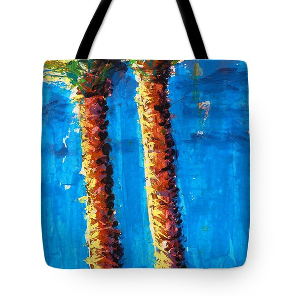 Lincoln Rd Date Palms Tote Bag