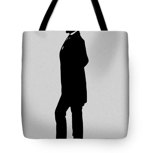 Lincoln Silhouette And Signature Tote Bag