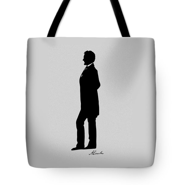 Lincoln Silhouette And Signature Tote Bag by War Is Hell Store