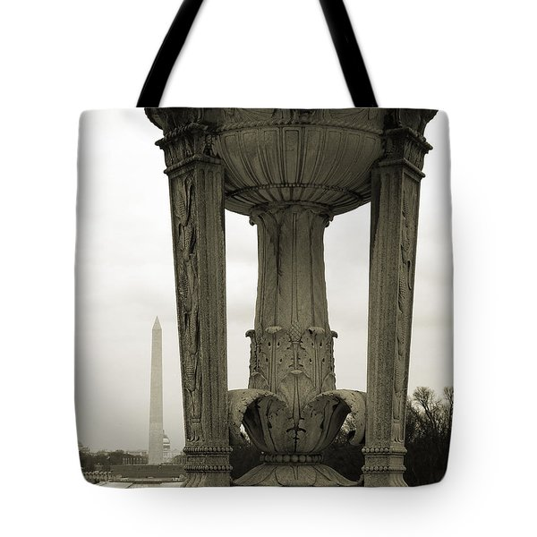 Tote Bag featuring the photograph Lincoln To Washington by Angela DeFrias